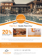 Orange Real Estate Flyer Design Template