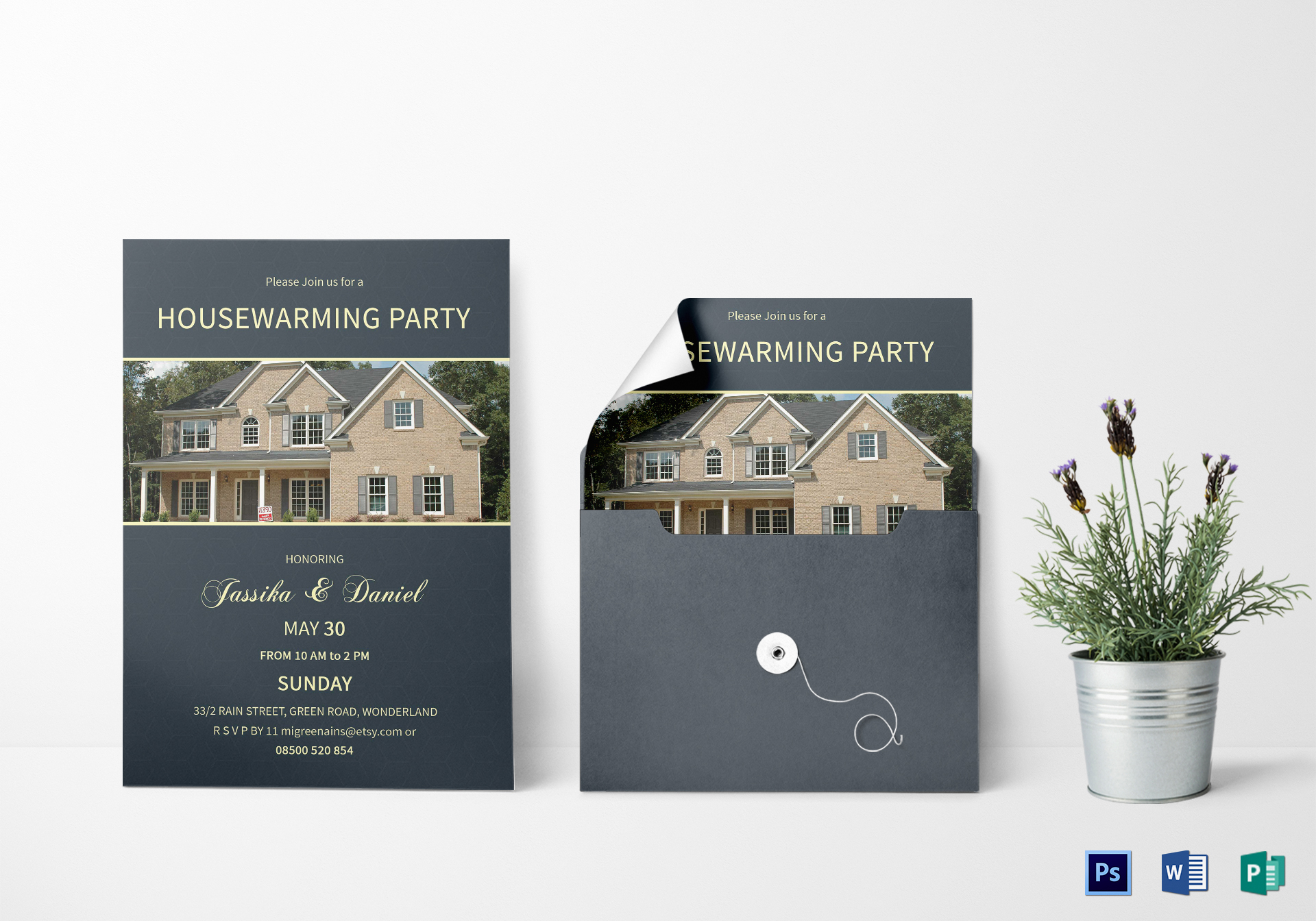 Unique Housewarming Invitation Design Template In Psd Word Publisher