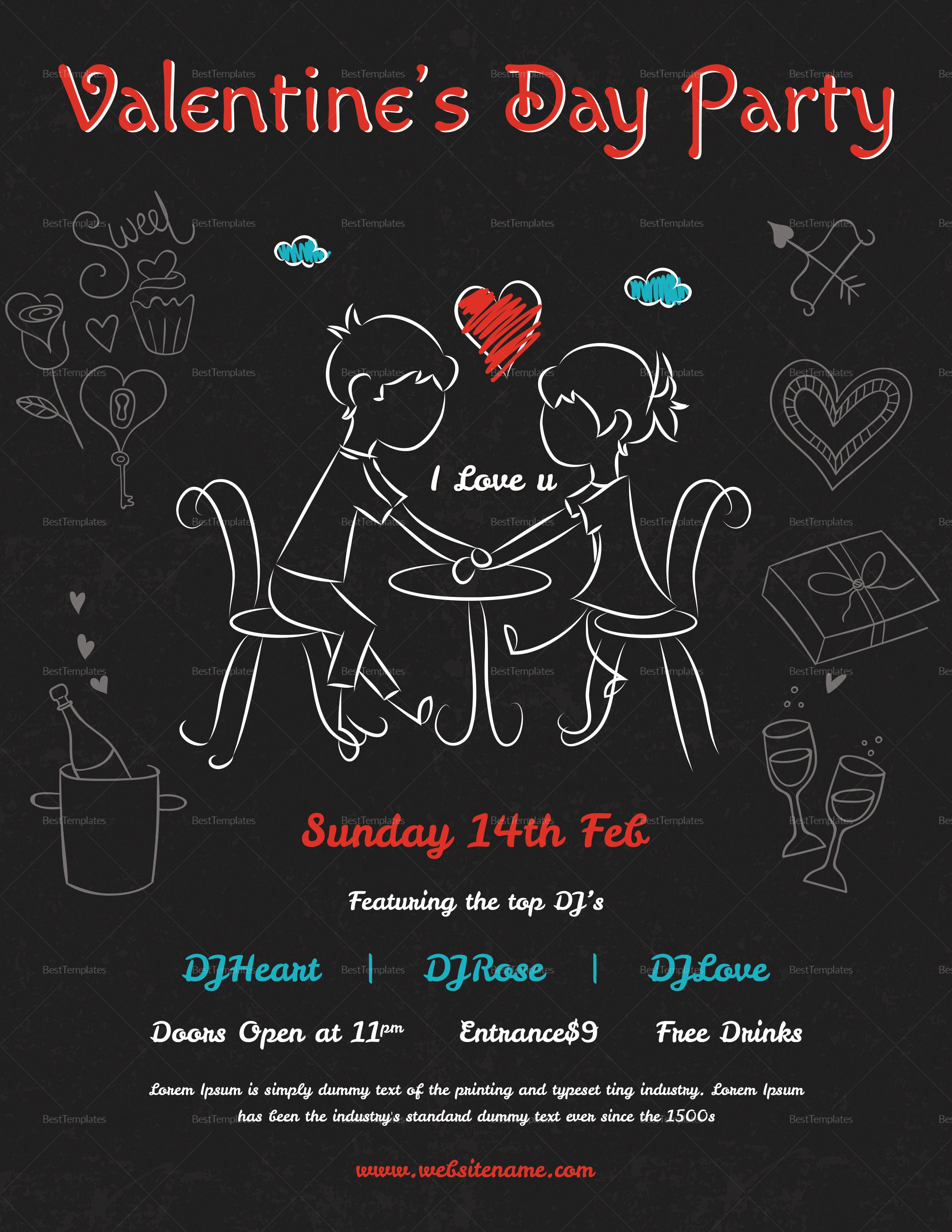 Elegant Valentines Day Flyer