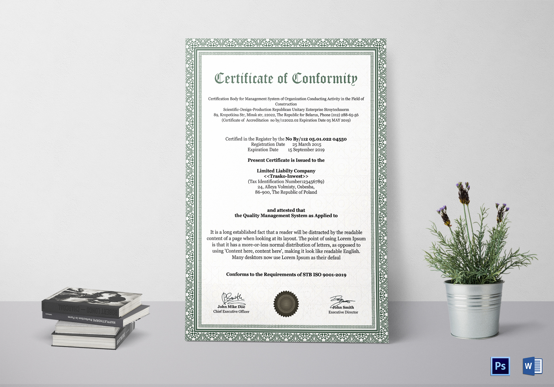 Unusual certificate of conformity template contemporary conformity certificate design template in psd word yelopaper Image collections