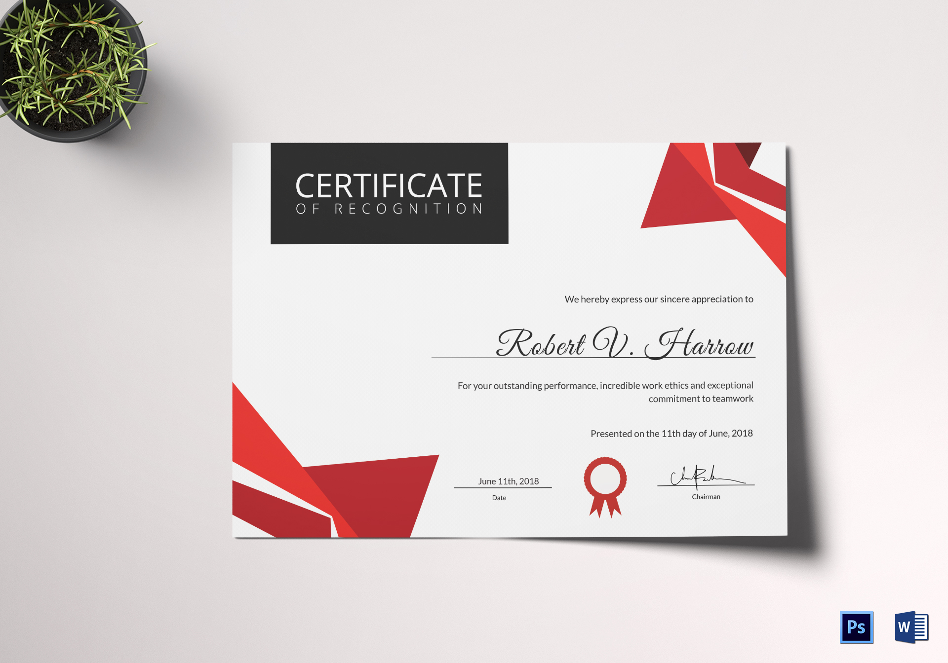 Certificate of Coach Recognition