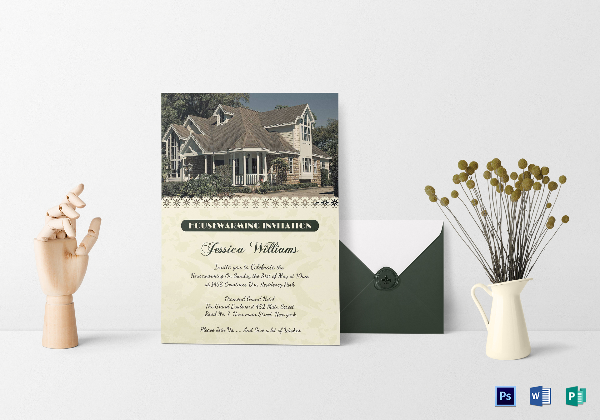 Welcoming Housewarming Invitation Card