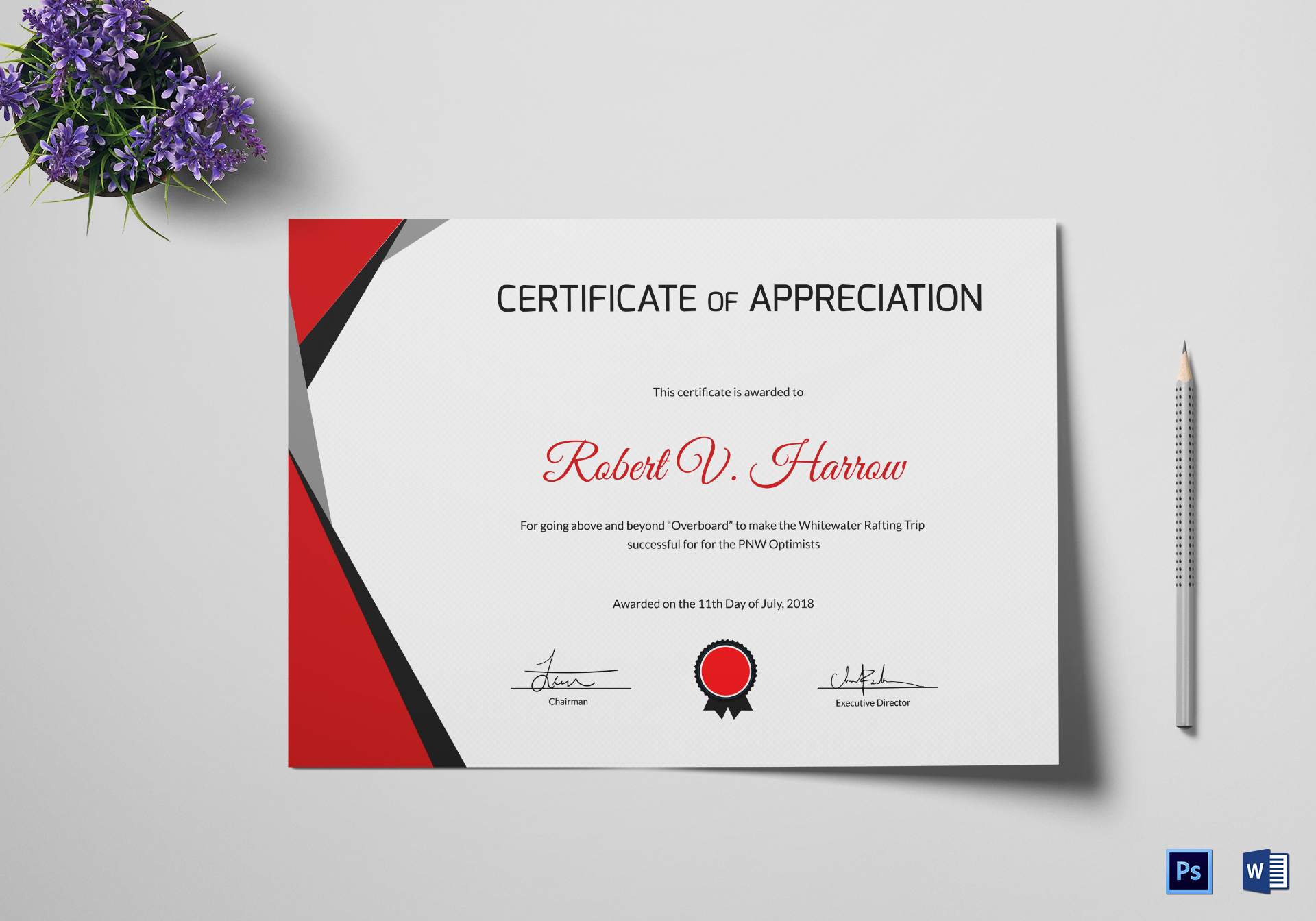 Rafting Training Certificate Design Template In Psd Word