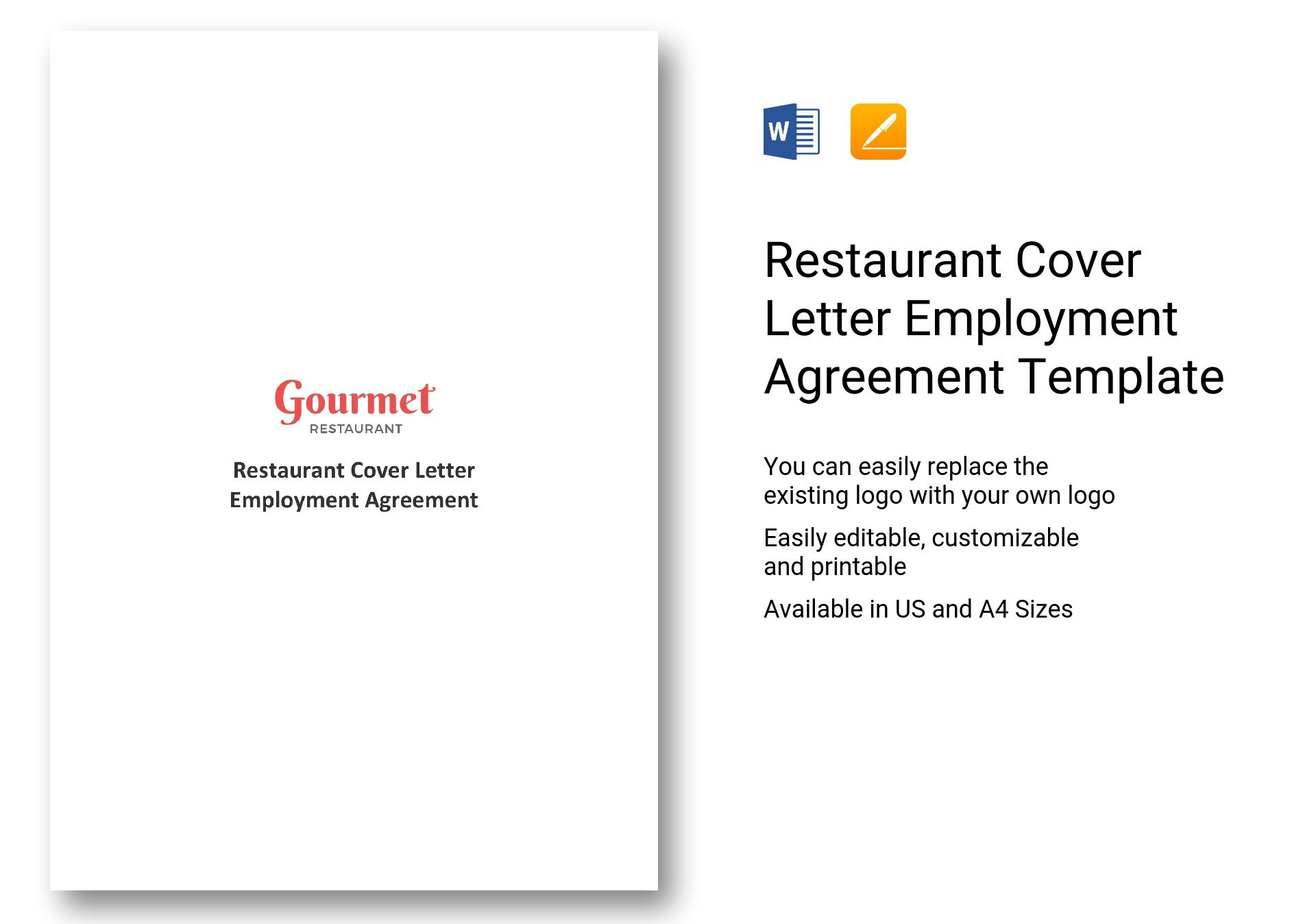 Restaurant Cover Letter Employment Agreement