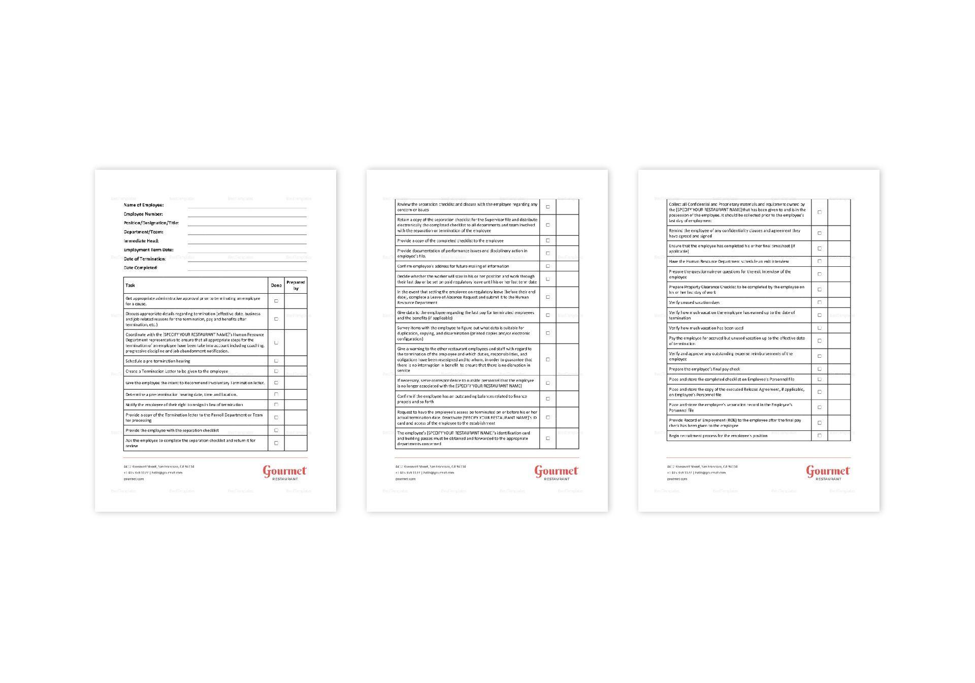 Employee Pre-Termination Checklist