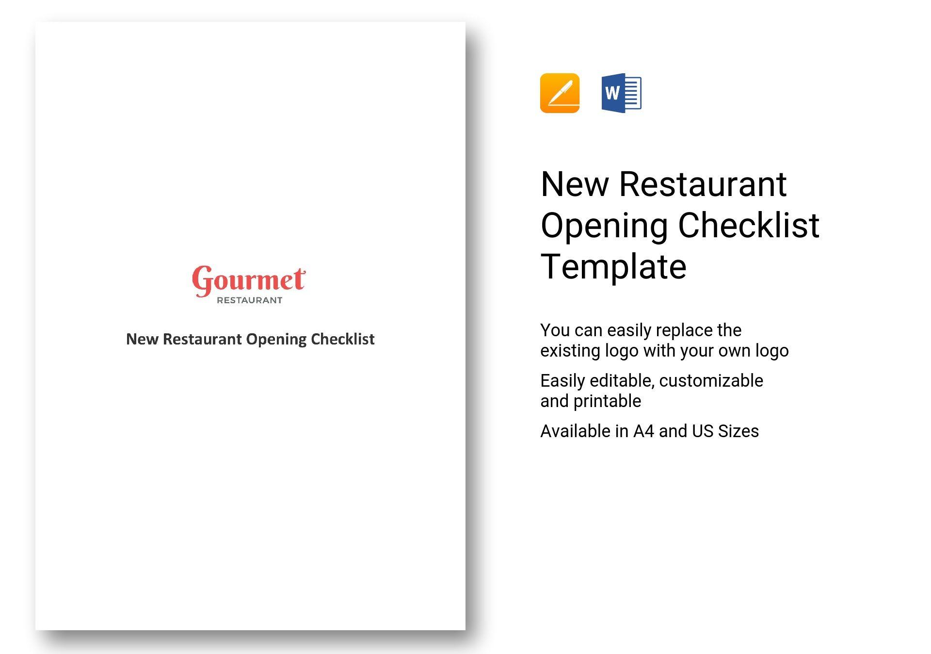 restaurant opening checklist - Emayti australianuniversities co