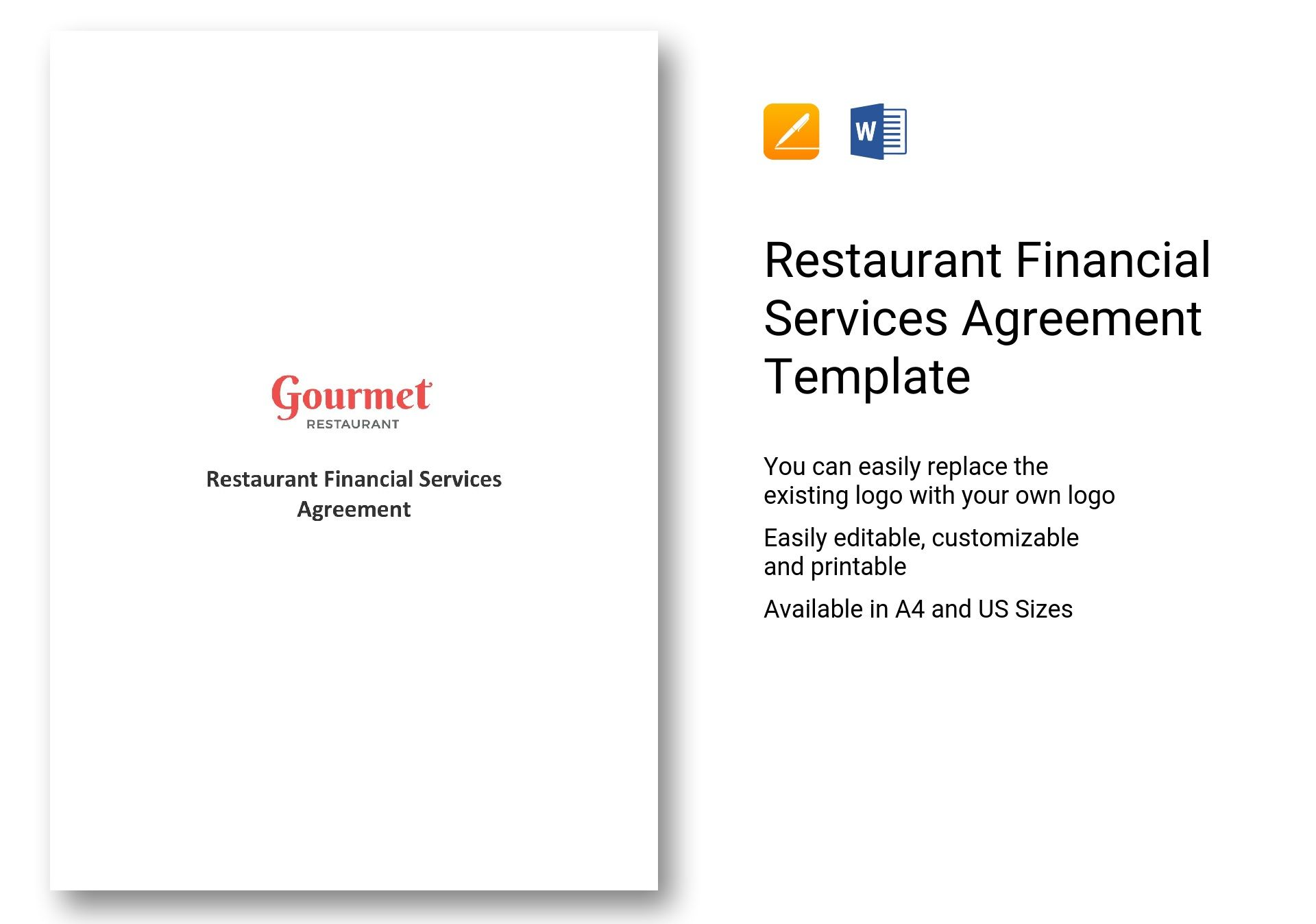 Restaurant Financial Services Agreement Template In Ms Word
