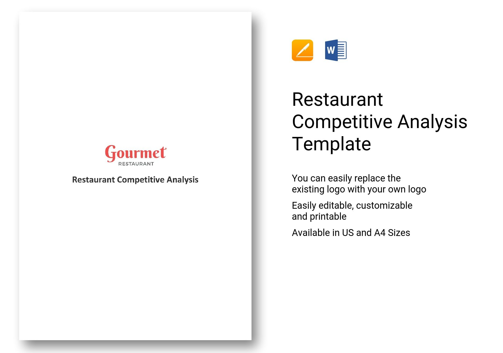 Restaurant Competitive Analysis Template In Word Apple Pages
