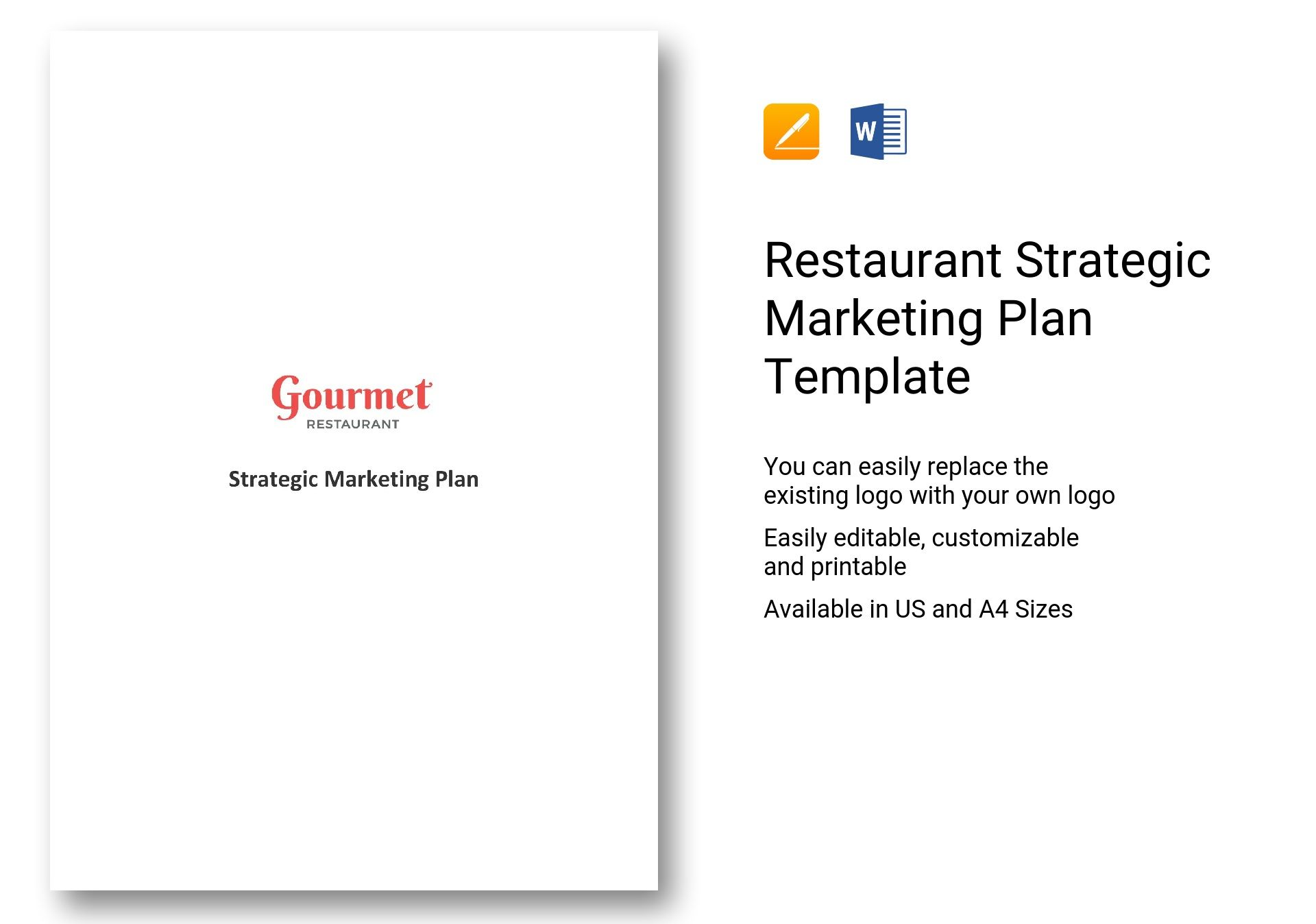 Restaurant Strategic Marketing Plan Template In Word Apple Pages