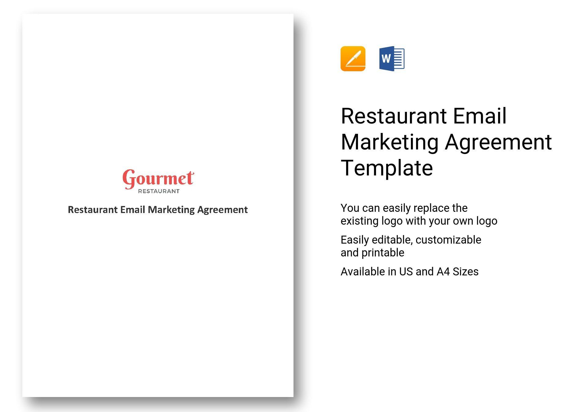 Restaurant Email Marketing Agreement