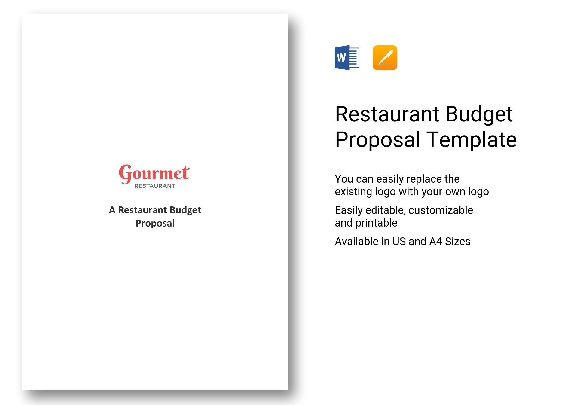Restaurant Budget Proposal