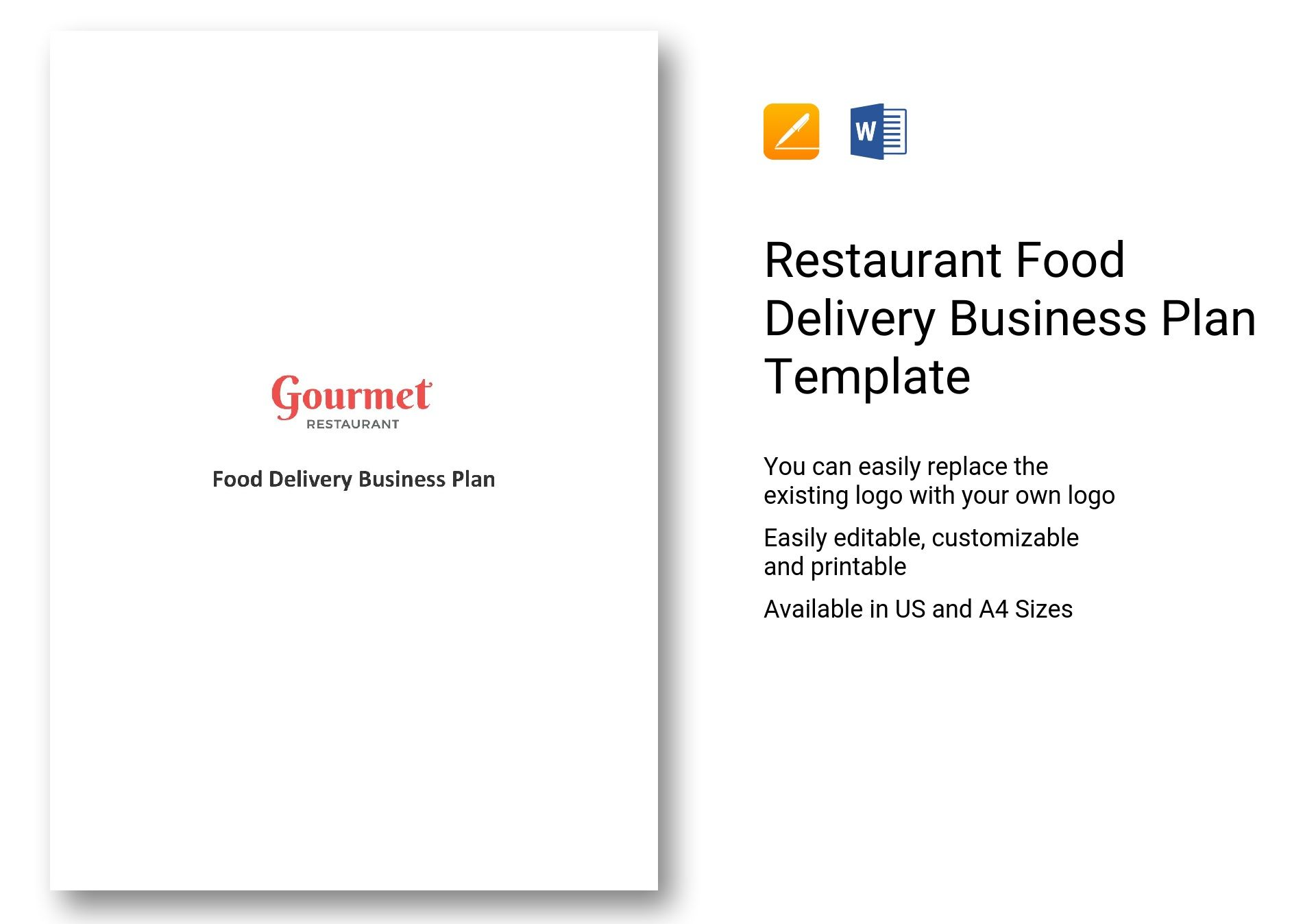 Restaurant Food Delivery Business Plan Template In Word