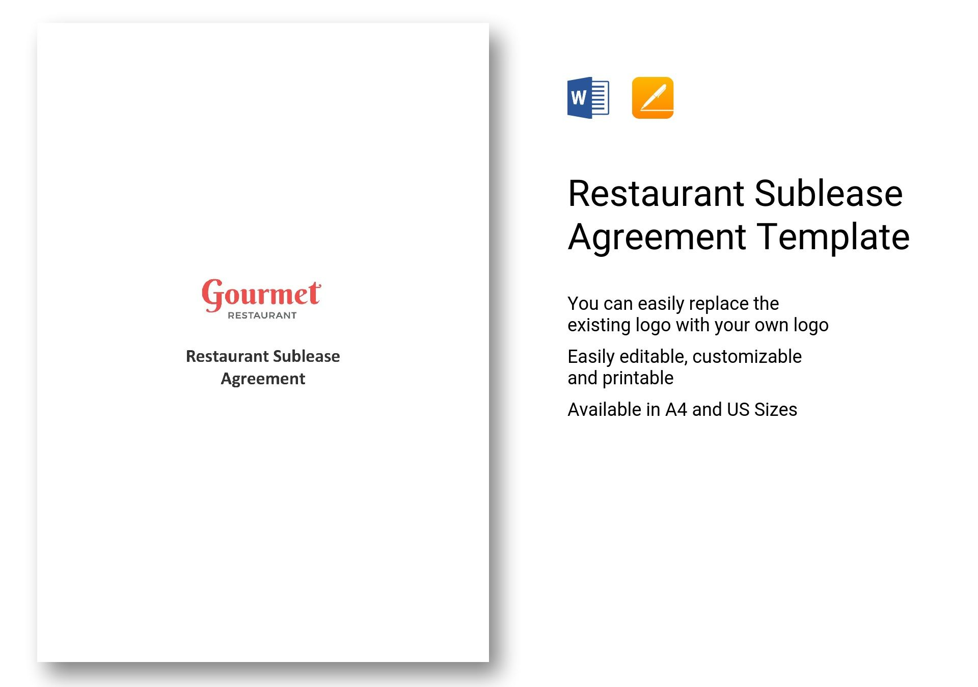 Restaurant Sublease Agreement