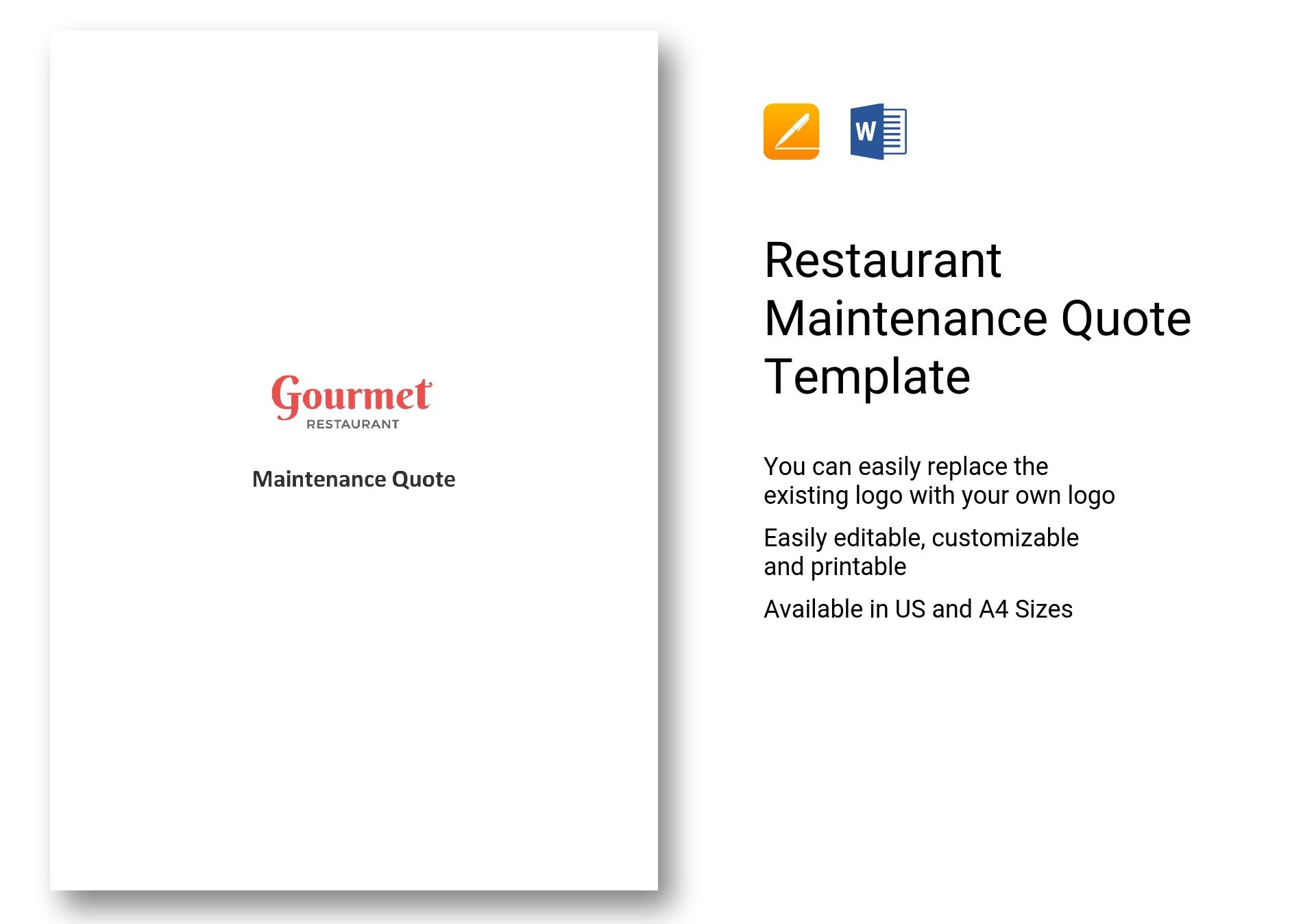 Restaurant Maintenance Quote