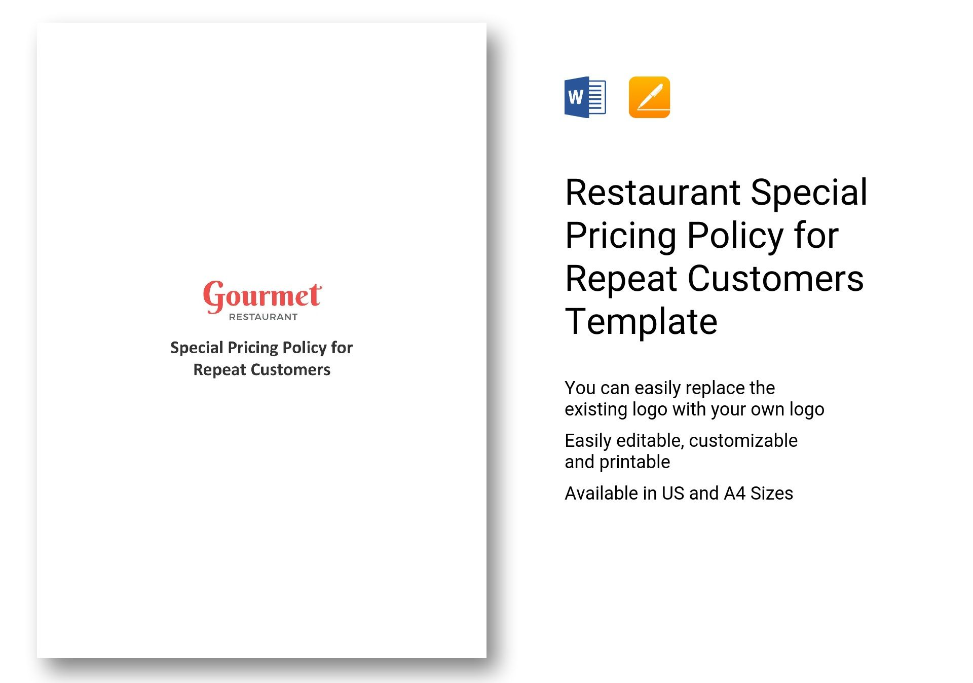 Restaurant Special Pricing Policy for Repeat Customers