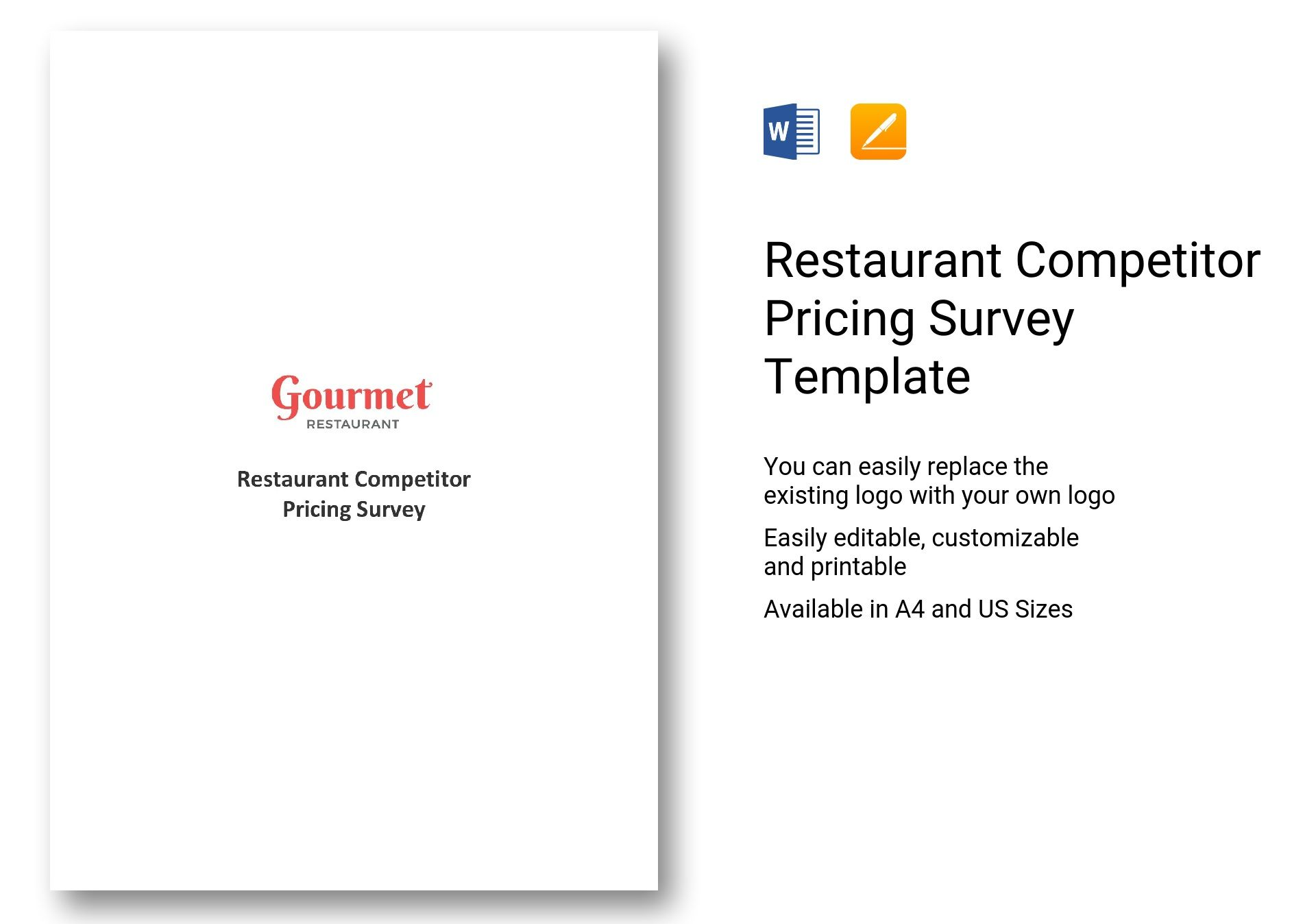 Restaurant Competitor Pricing Survey
