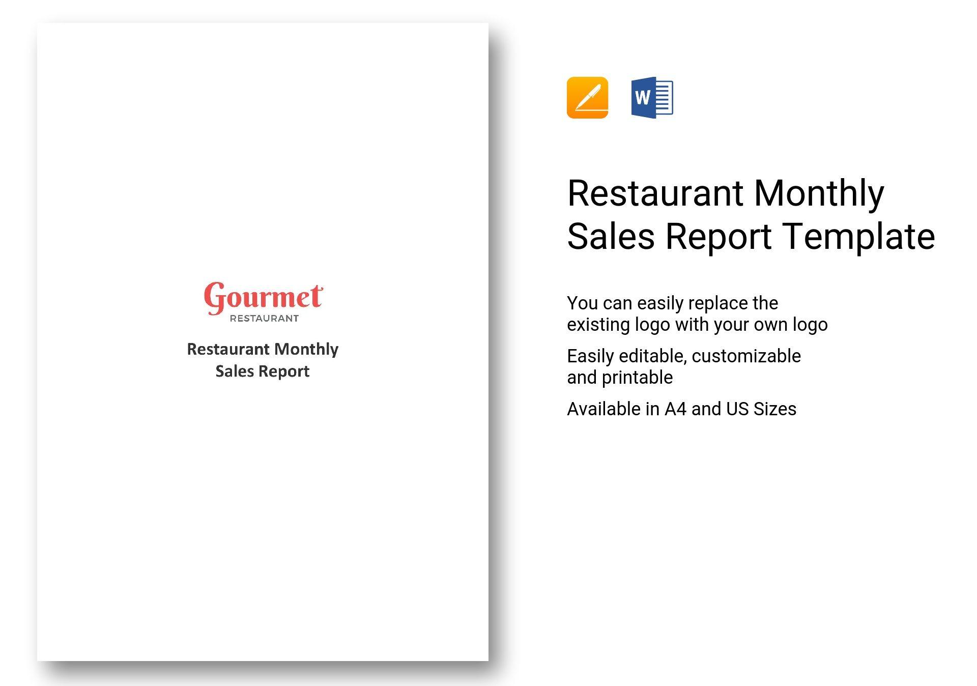 Restaurant Monthly Sales Report