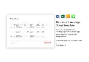 /restaurant/642/Restaurant-Wastage-Sheet-Template