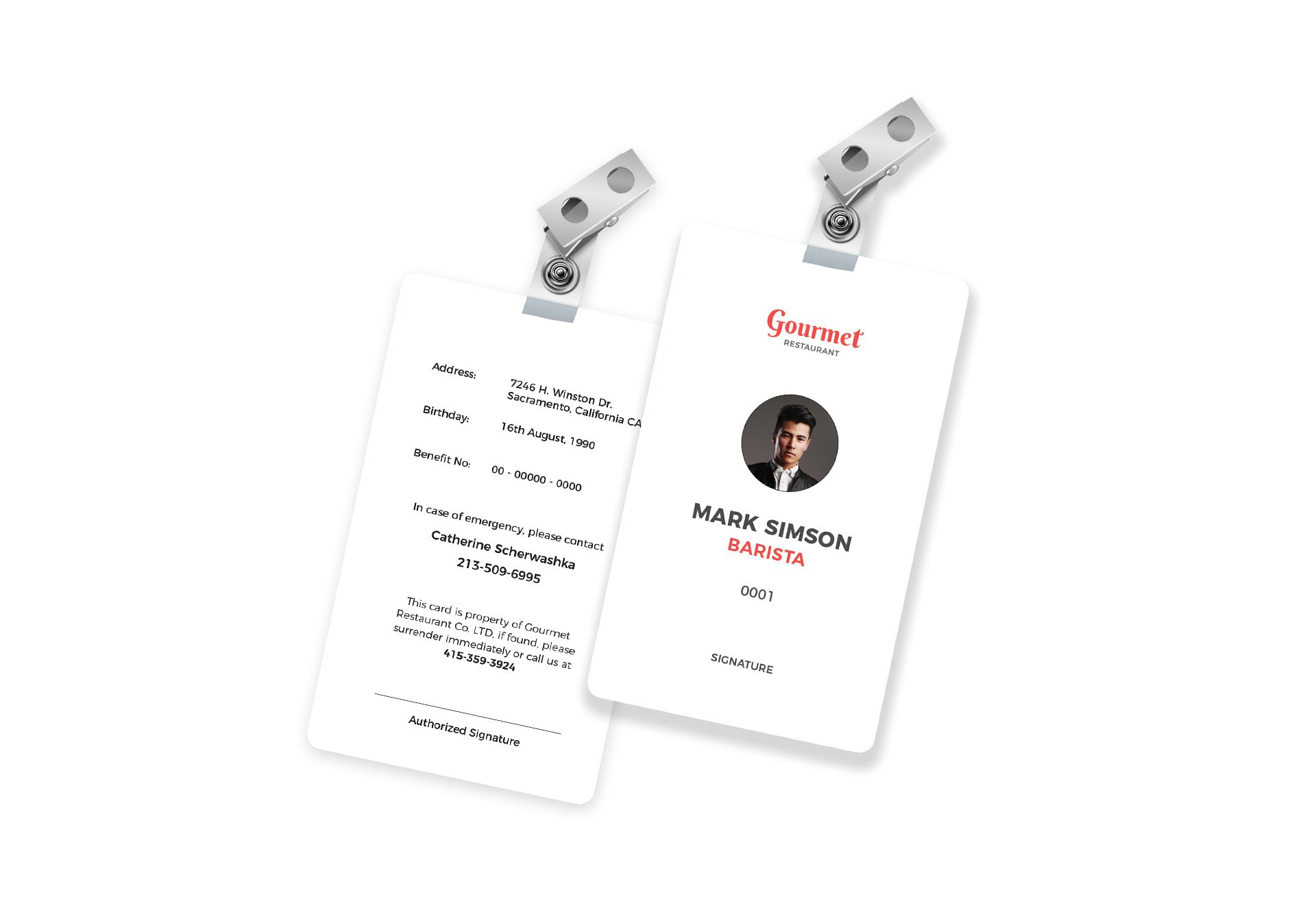 restaurant identity card template in psd  word  publisher