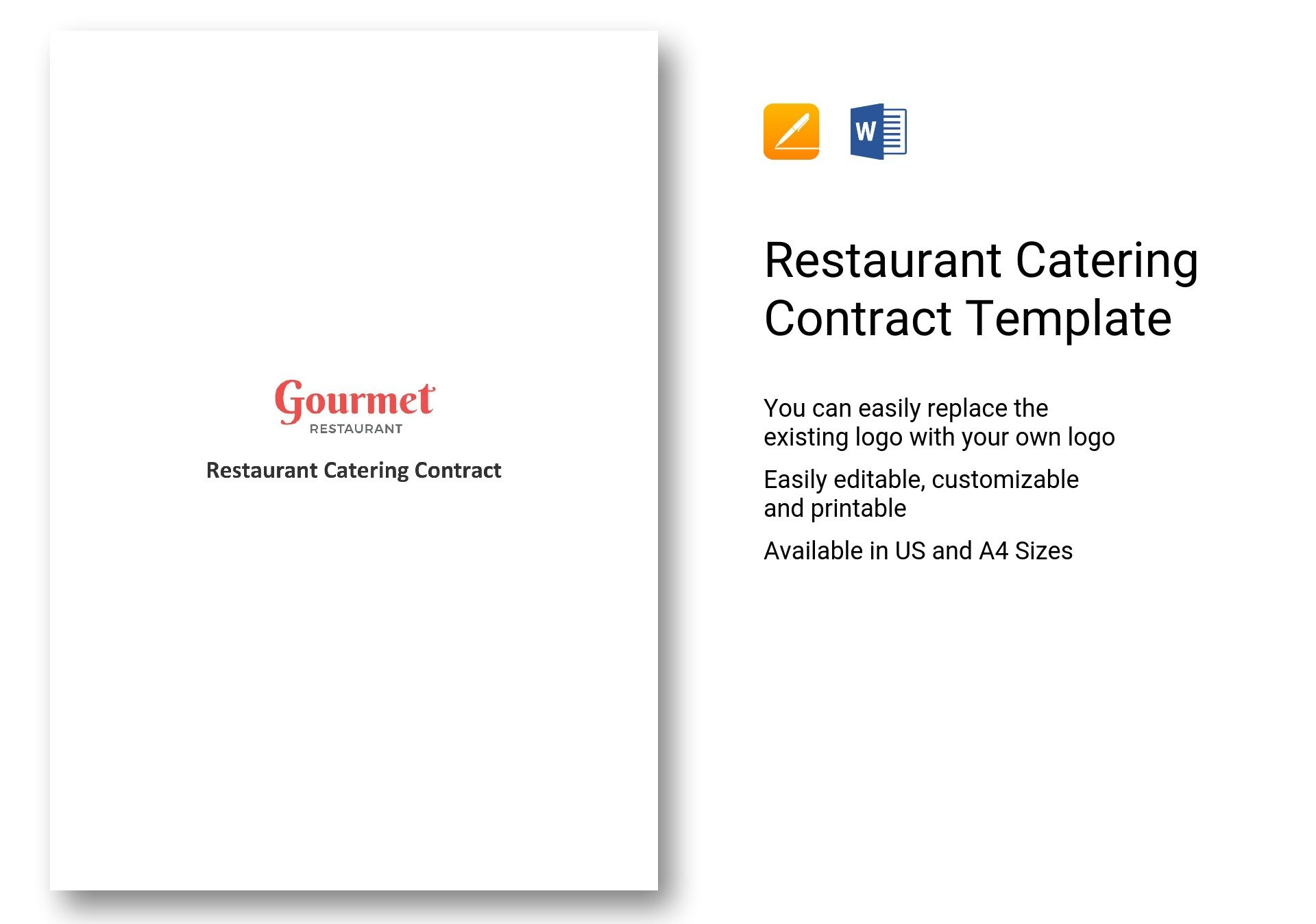 avery template 5523 - catering contract template word gallery template design