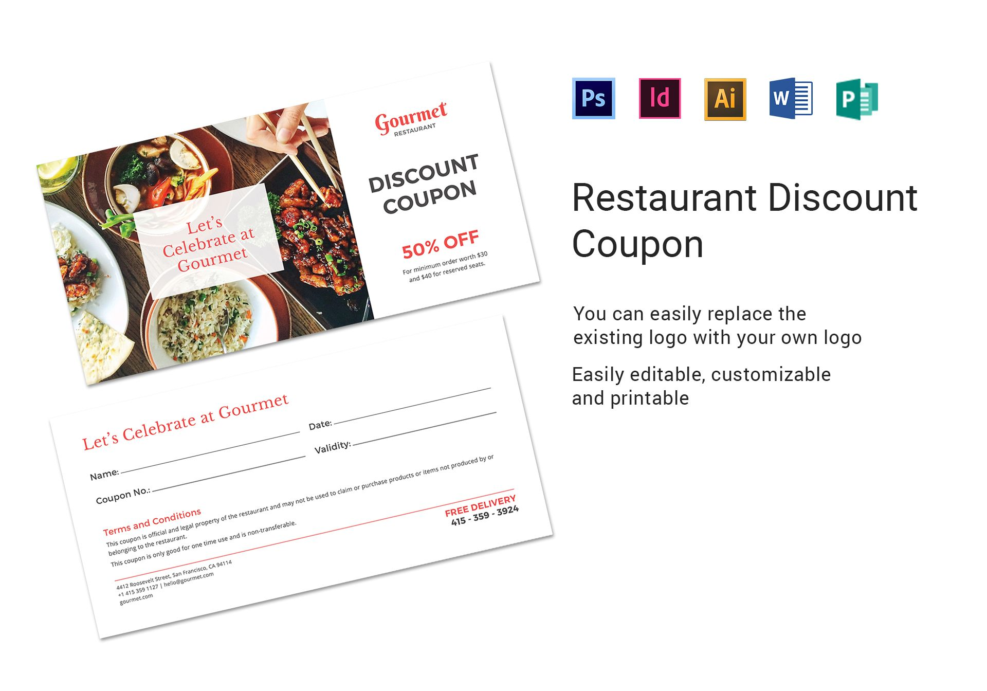 Restaurant Discount Coupon
