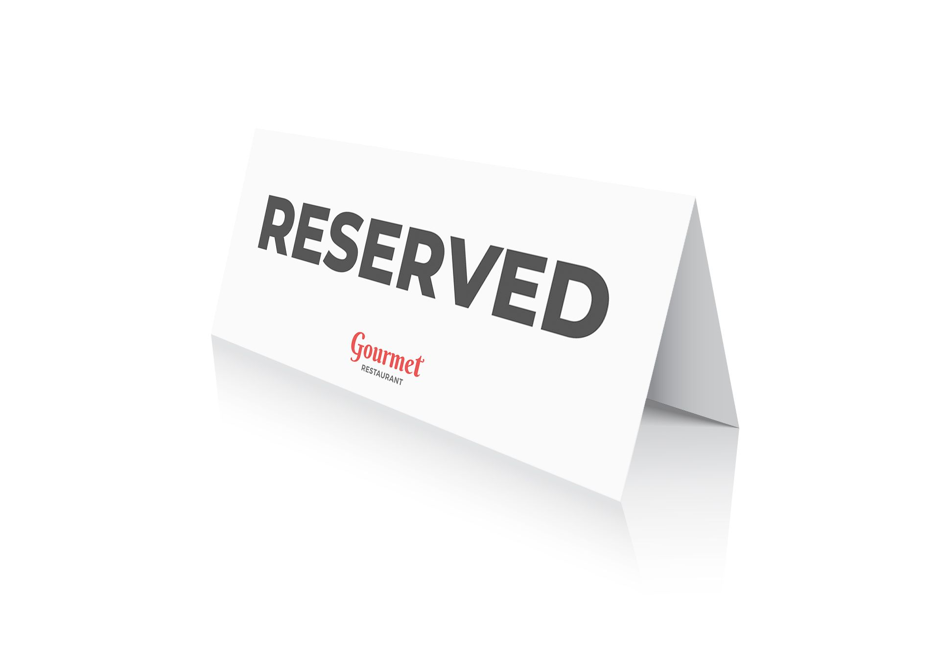 Restaurant Double-Sided Reserved Signs