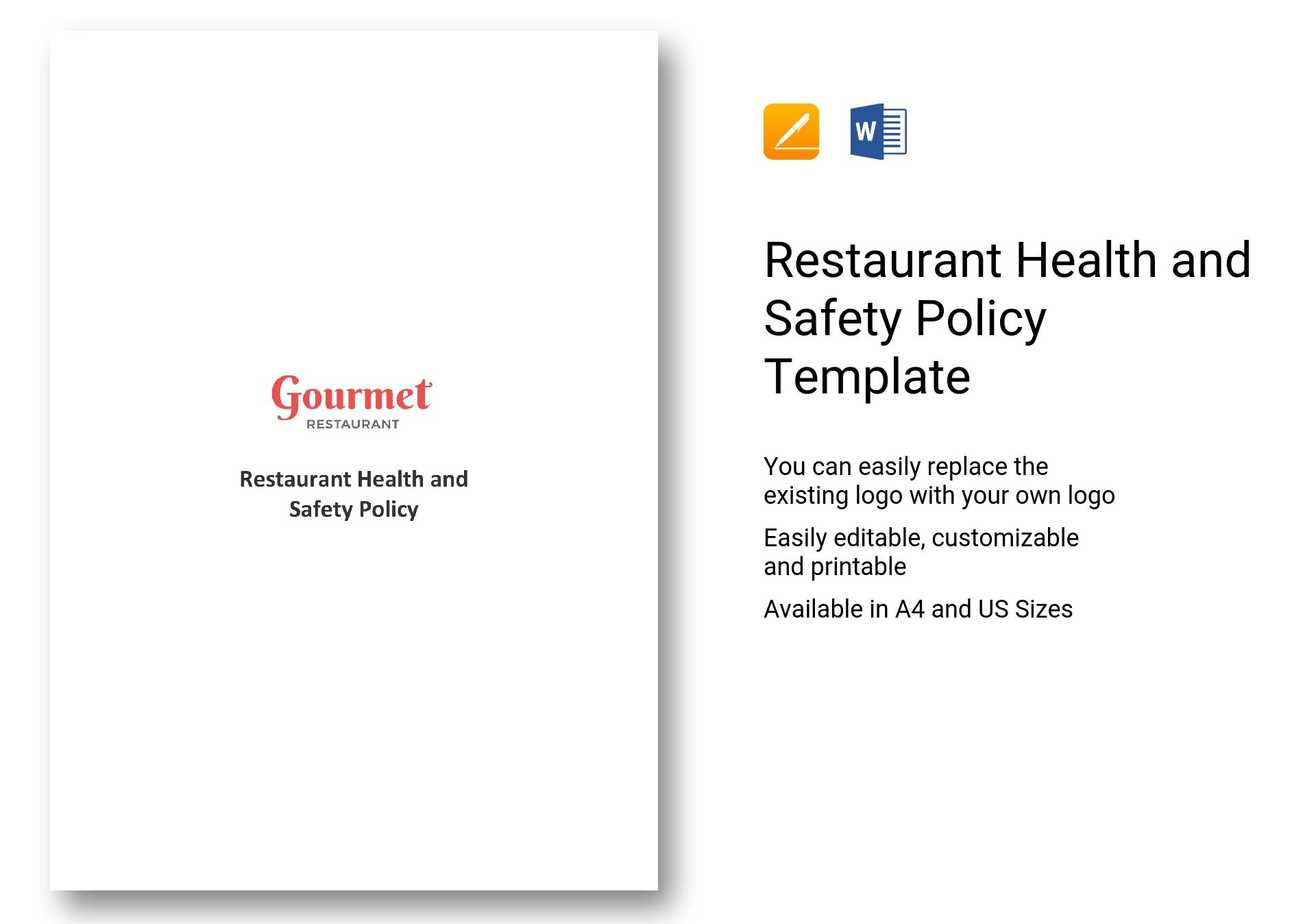 Restaurant Health and Safety Policy Template in Word ...