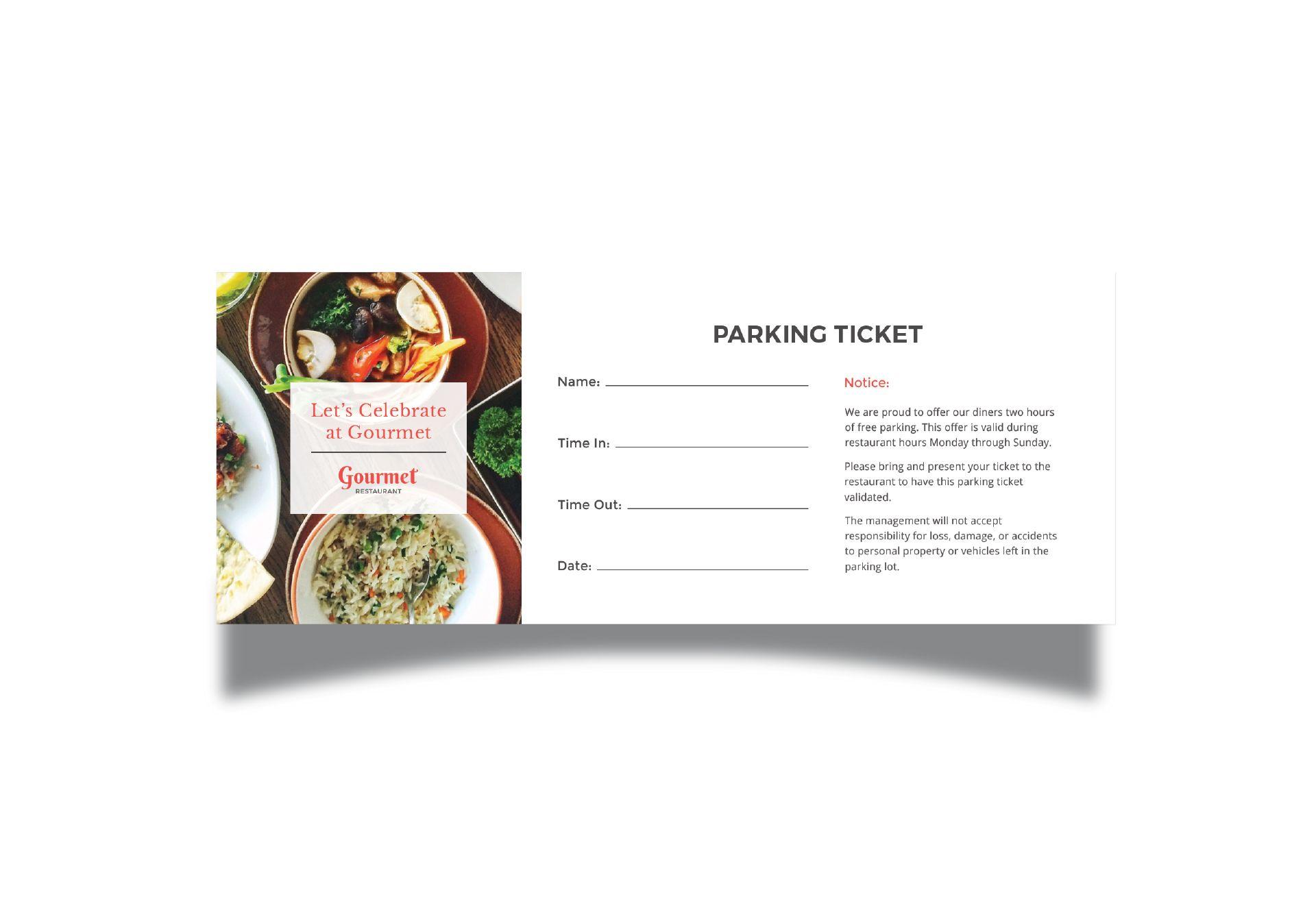 Restaurant Parking Ticket