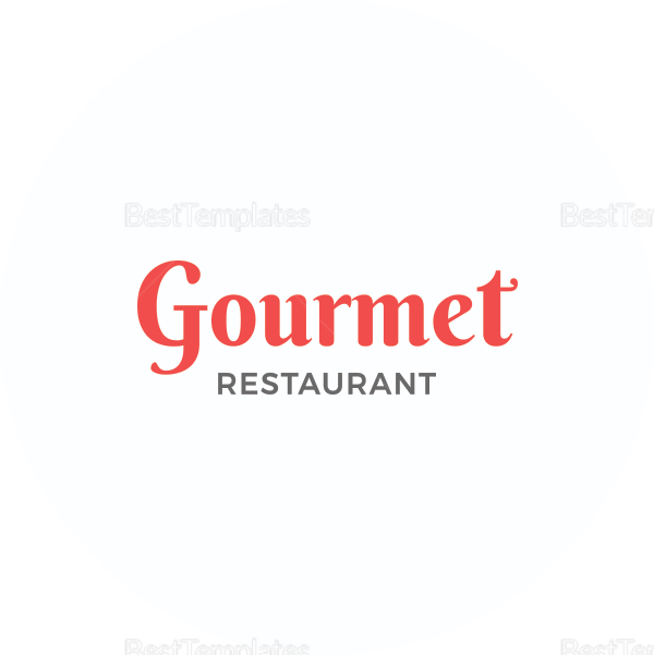 Sample Restaurant Round Coaster