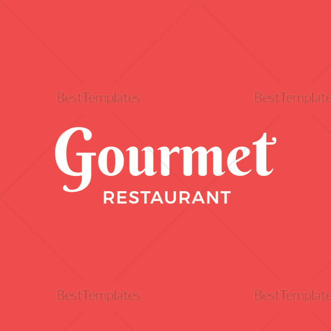 Simple Restaurant Office Badge Template