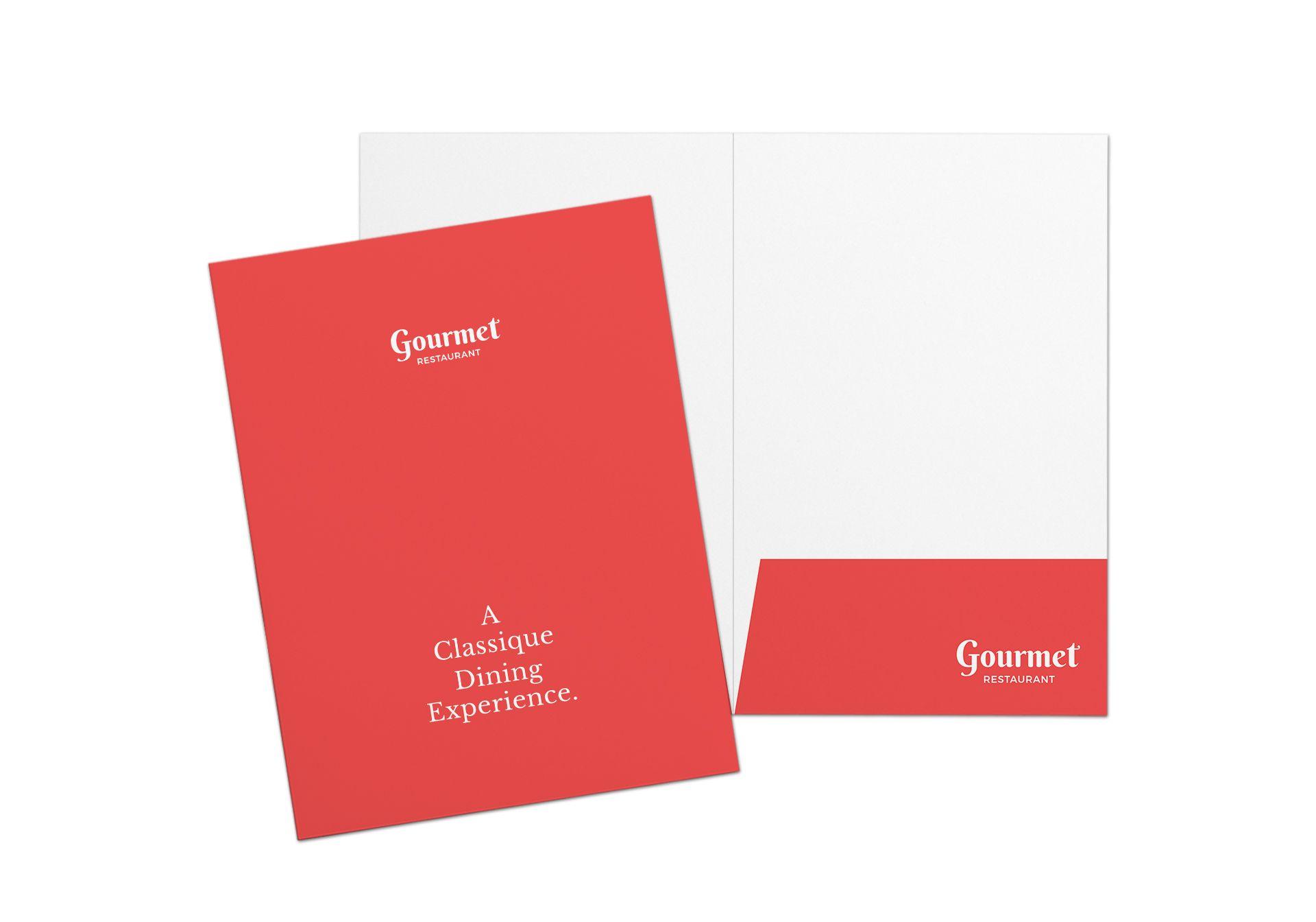 Restaurant Letter Presentation Folder