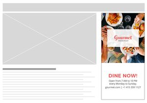 restaurant web ad templates in psd html