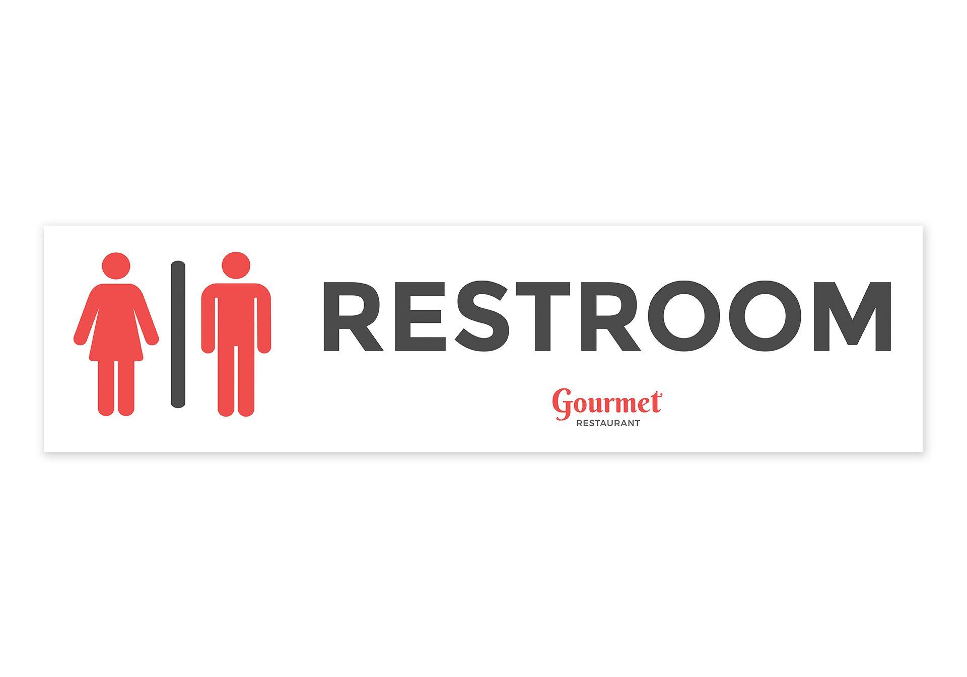 Restaurant Restroom Sign