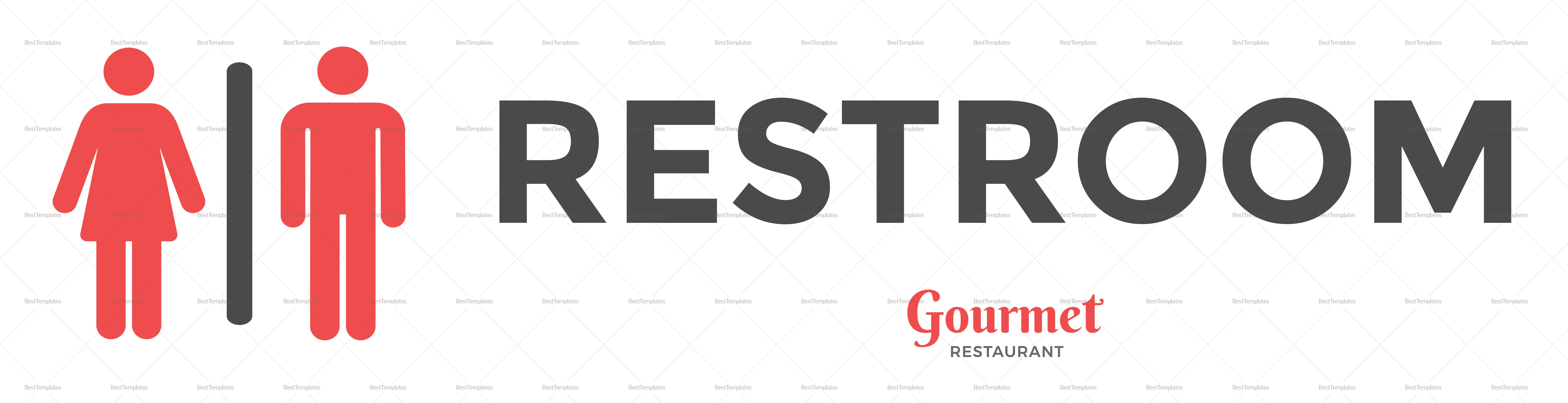 Sample Restaurant Restroom Sign Template