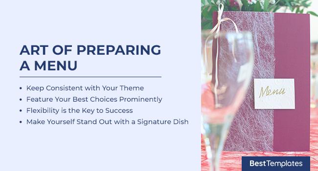 Art of Preparing a Menu