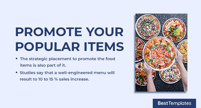 Promote your Popular Items