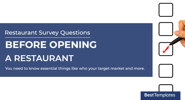 restaurant business survey questionnaires 7 most important