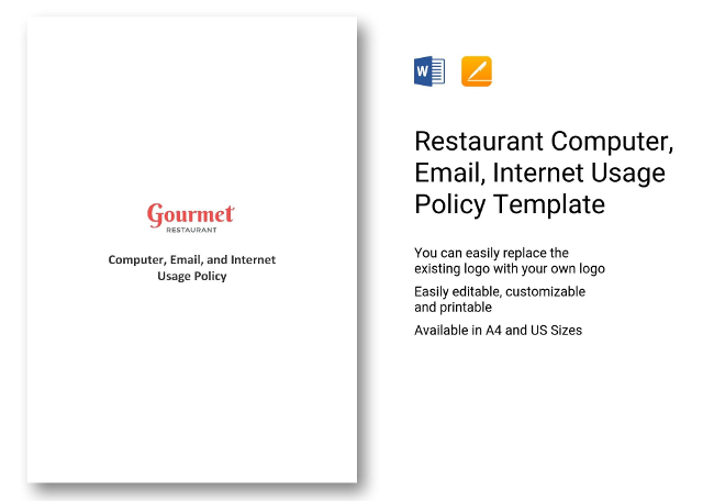 computer usage policy template - 65 restaurant hr templates hiring payroll policies