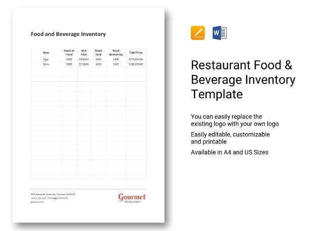 Food & Beverage Inventory