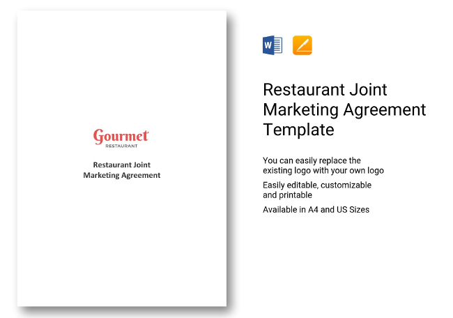 Joint Marketing Agreement Choice Image  Agreement Letter Format