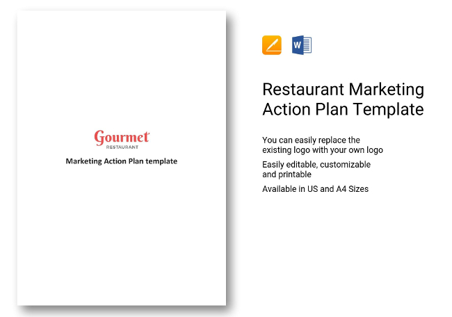 Restaurant Marketing Templates  Plans Spreadsheets