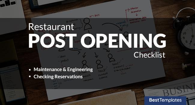 Post Opening Checklist
