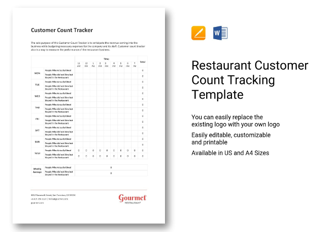 Restaurant Customer Count Tracking