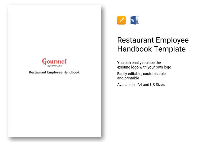 Restaurant HR Templates Hiring Payroll Policies - Restaurant employee handbook template