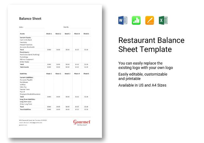 Simple Balance Sheet