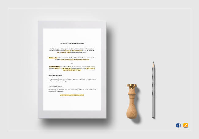 Advertising & Marketing Agreement Template