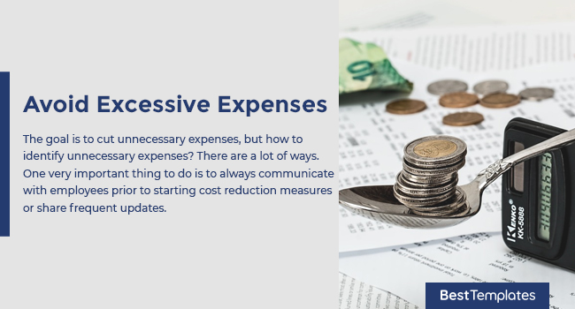 Avoid Excessive Expenses