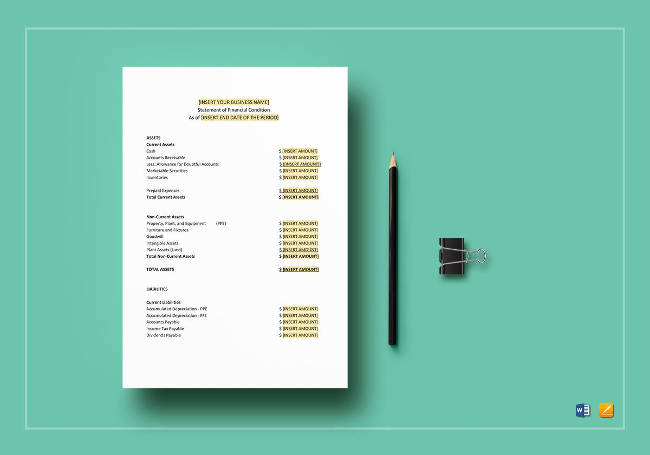 Financial Statement Template to Print