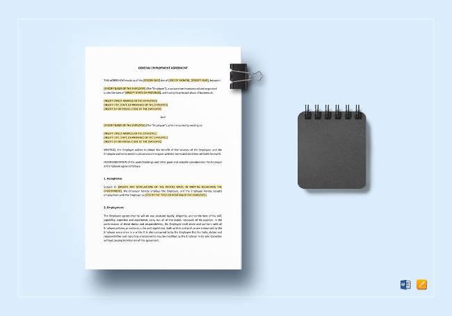 General Employment Agreement