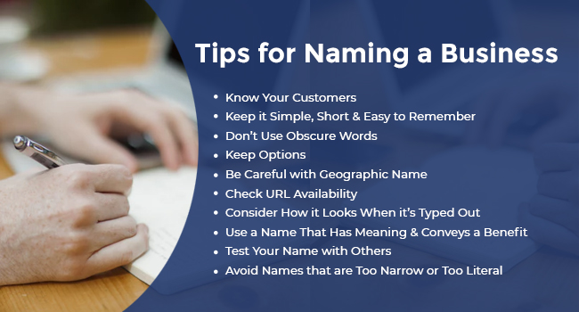 Tips for Naming a Business